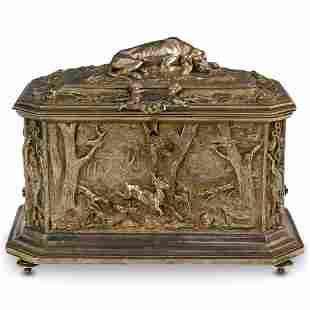 """A.B. Paris"" Silver Bronze Casket Box"