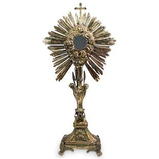 Antique Religious Silver Monstrance