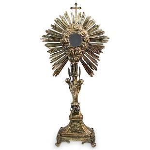 Antique Religious Silver Monstrance