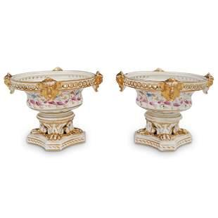 Derby Regency Potpourri Vases