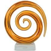 Murano Glass Spiral Sculpture
