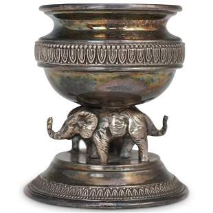 Camusso Silver Elephant Inkwell