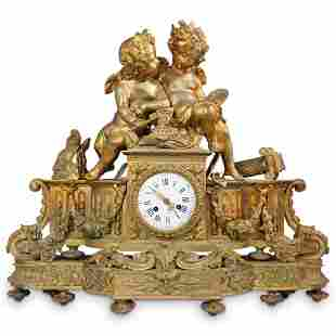 19th Cent. Japy Freres Bronze Mantle Clock