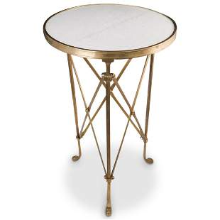 Neoclassical Marble and Bronze Gueridon Table