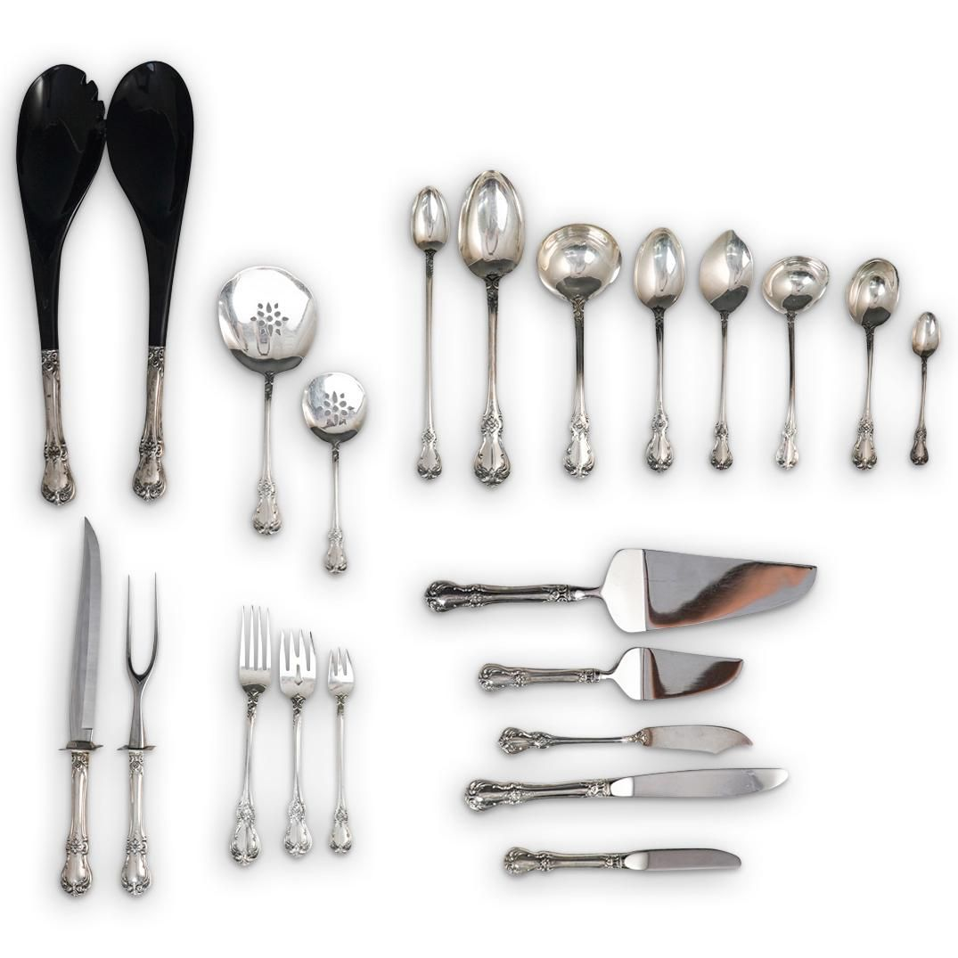"""(132 Pc) Towle """"Old Master"""" Sterling Silver Flatware"""