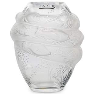 """Lalique """"Marine Et Tarpon"""" Marina Vase"""