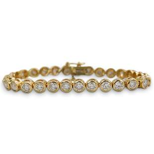 5ct Diamond and 14k Gold Tennis Bracelet