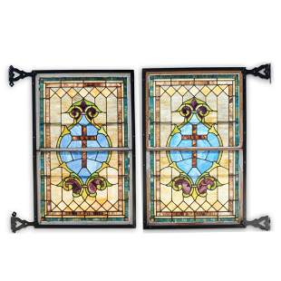Architectural Salvage Stained Glass Windows