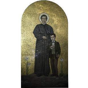 19th Ct. Continental Macro Mosaic of Saint John Bosco