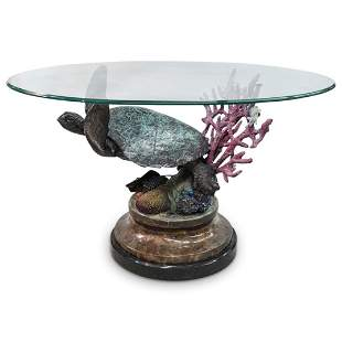 "Duane Scott (American) ""Tranquility"" Bronze Table"