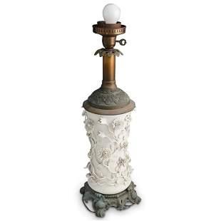 Ormolu Blanc De Chine Porcelain Lamp