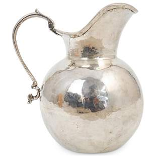Peruvian Sterling Silver Water Pitcher