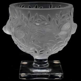 """Lalique Crystal """"Elizabeth"""" Vase"""