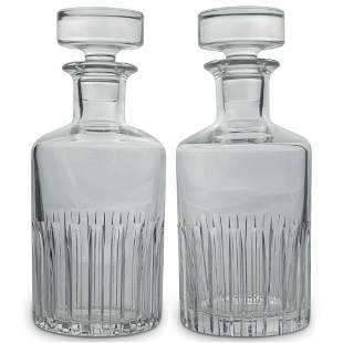 Pair Of Probably Baccarat Whisky Decanters