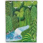 H.R. Bresil (Haiti, 1952 - 1999) Original Acrylic on