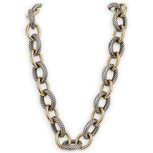 David Yurman 18k and Sterling Silver Necklace
