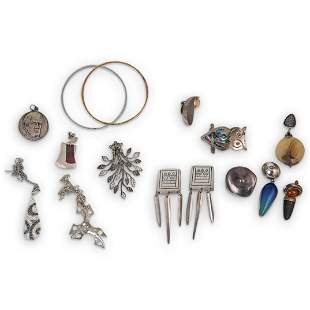 (16 Pc) Misc Lot of Sterling Silver Jewelry