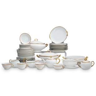 "(50 Pc) Austrian ""Imperial Empire"" Porcelain Dinner Set"