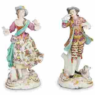 Pair Of Chelsea Porcelain Figurines