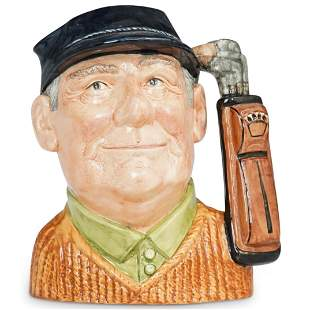 "Royal Doulton ""Golfer"" Ceramic Large Character Jug"