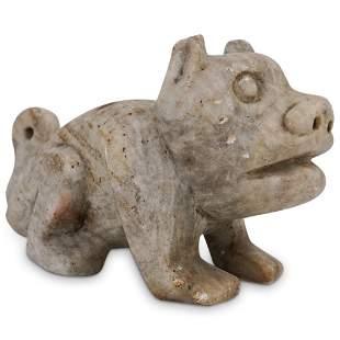 Primitive Stone Dog Carving