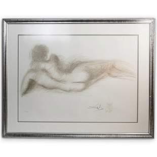 """Salvador Dali (Spanish 1904-1989) """"Femme nue de Dos"""""""