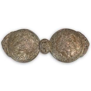 Antique Islamic Ottoman Engraved Brass Belt Buckle
