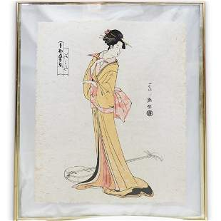 Japanese Signed Woodblock Print