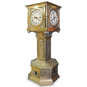 Large Antique Warren Telechron Train Station Clock