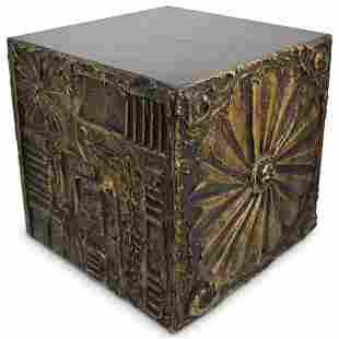 Adrian Pearsall Brutalist Cube Pedestal