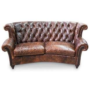 """Drexel Heritage """"Chesterfield"""" Leather Sofa"""