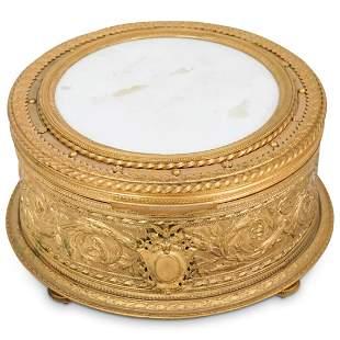 French Gilt Bronze Dresser Box