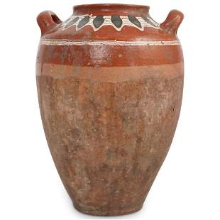Redware Double Handle Vase