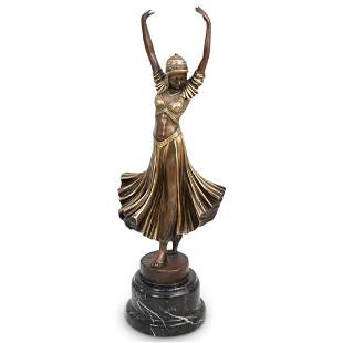 Demetre Chiparus Style Bronze Dancer