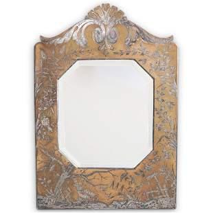 Art Deco Etched Bronze Vanity Mirror