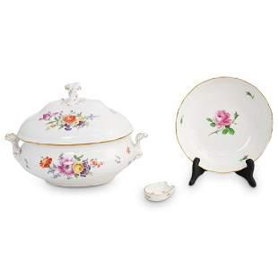 (3 Pc) Meissen Porcelain Grouping Set