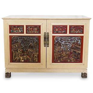 Chinoiserie Carved Panel Buffet