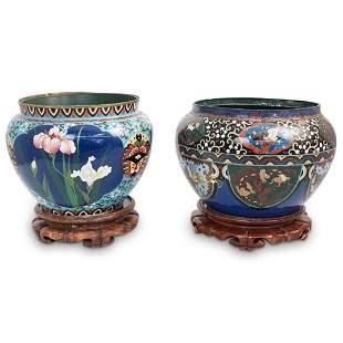 Chinese Cloisonne Vase & Urn