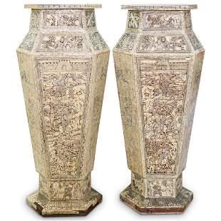 Monumental Chinese Bone Urns
