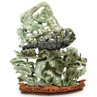 Chinese Carved Hardstone Urn