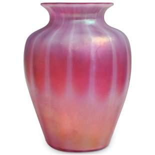 Steuben Oriental Poppy Glass Vase