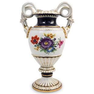 Meissen Serpentine Porcelain Urn