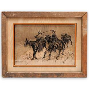 """Frederic Remington """"Lucid Lines"""" Painting"""
