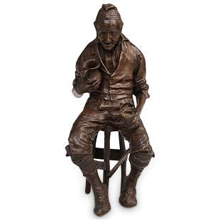 "Italian Signed ""P. Fosca"" Bronze Statue"