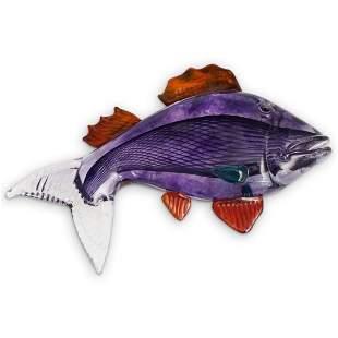 Kjell Engman Kosta Boda Fish Glass Sculpture
