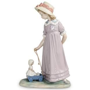 "Lladro ""Pulling Dolls Carriage"" #5044 Figurine"