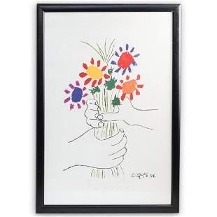 Pablo Picasso Bouquet of Peace Lithograph