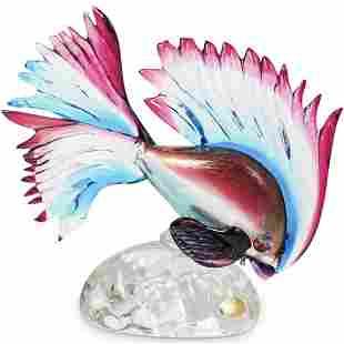Murano Art Glass Tropical Fish Sculpture