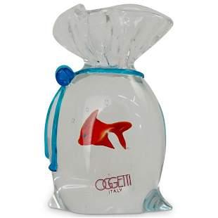 """Italian """"Oggetti"""" Murano Art Glass Paperweight"""