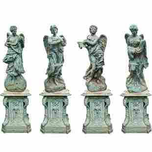 """""""Four Seasons"""" Iron Garden Statues"""